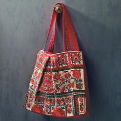 Embroidered Tote Bag – Hand stitched and embroidered with vibrantly dyed shimmering threads  / Craft by World Market