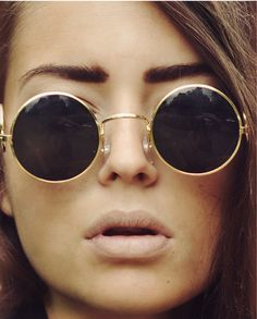 bold brows and statement sunglasses