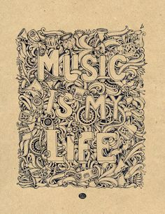 goodtypography:    Music is my life by ~MrSithZam