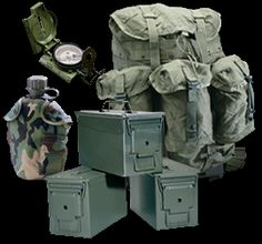 Military surplus gear and equipment
