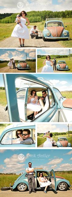car broken down rockabilly style wedding photo s with baby by pink antler photography wedding car Rockabilly Wedding, Rockabilly Fashion, Rockabilly Style, Wedding Car, Wedding Poses, Baby Pictures, Wedding Pictures, Family Photos, Family Portraits