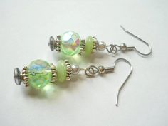 Silver Gray Pearl Earrings Antique Silver Mint by chicagolandia, $17.00