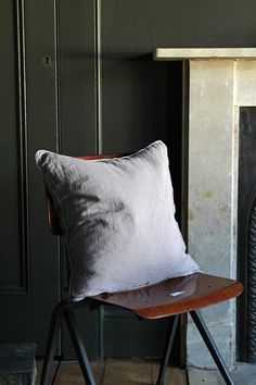 Lisbon Soft Linen Cushion - Grey from Rockett St George