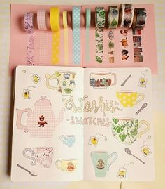 Washi tape has become one of the most popular bullet journal supplies. The fact that there are so many different looking washi tapes to collect, and that they have other uses outside of bullet journaling, . Bullet Journal Washi Tape, Bullet Journal 101, Bullet Journal Cover Page, Bullet Journal Printables, Bullet Journal How To Start A, Bullet Journal Layout, Bullet Journal Inspiration, Bullet Journals, Art Journals