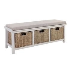 Atterley Storage Bench with Cushion | Homebase