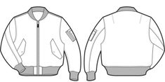 jacket technical drawing - Cerca con Google
