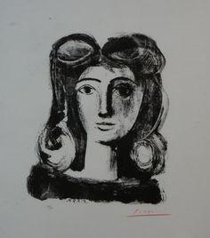 Pablo Picasso (1881-1973), lithograph, Lady, sig. b.r., 28/50, dim. 38 x 27 cm.