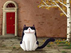 """Un po' qui un po' lì - Il blog dell'illustratrice Barbara Cantini: """"Gatto Pancho"""""""