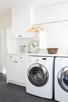 Rod over washer and dryer for hanging delicates