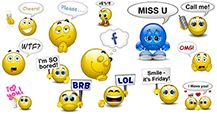 Be perfectly clear as you message friends with speech bubbles using these clever chat faces!