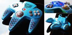 custom zora-blue flake N64 controller by Zoki64.deviantart.com on @deviantART