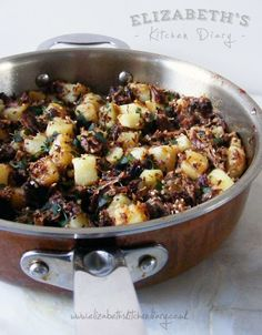 Another gorgeous recipe from Elizabeth over at Elizabeth's Kitchen - Leftover Beef & Potato Hash. Inspired by a recipe from Madhur Jaffrey's 1982 addition of Indian Cooking.