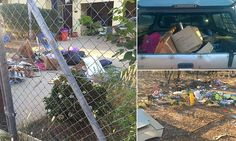 Man returns loads of rubbish to neighbour who had dumped it in bush #DailyMail
