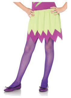 Leg Avenue 217083 Kids Fishnet tights - Neon Purple Purple X-Large - Purple Tights, Purple Socks, Childrens Fancy Dress, Fancy Dress For Kids, Halloween Leggings, Halloween Costumes For Kids, Halloween Ideas, Girl Costumes