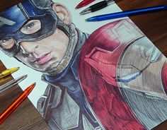 """Check out new work on my @Behance portfolio: """"Captain America Ballpoint Pen Drawing """" http://be.net/gallery/34699693/Captain-America-Ballpoint-Pen-Drawing-"""