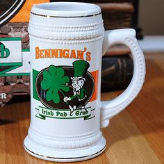 Personalized Irish Pub & Grub Beer Stein