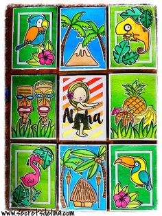 Pocketletter tropical summer flamingo birds jungle - ete flamand rose oiseaux aloha #Pocketletter #Secretsdelina #YourNextStamp