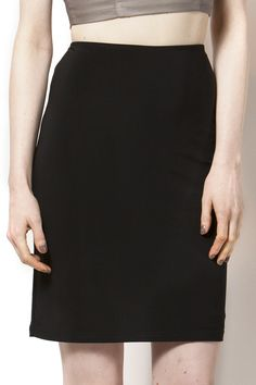 Solid black pencil skirt. The perfect staple for any working woman's closet. Black Pencil Skirt by Joseph Ribkoff. Clothing - Skirts - Pencil Clothing - Skirts Canada
