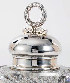 Fabergé - Encrier - Argent et Verre Ciselé - 1908-17
