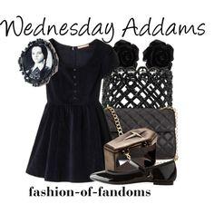 """Wednesday Addams"" by fofandoms on Polyvore"