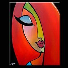 Art 'Goodbye Is Forever' - by Thomas C. Fedro from Faces Art 'Goodbye Is Forever' - by Thomas C. Abstract Face Art, African Art Paintings, Plakat Design, Cubism Art, Madhubani Art, Indian Folk Art, Arte Pop, Art Drawings Sketches, Pastel Art