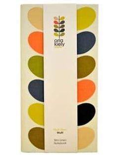 Orla Kiely Slim Linen Notebook