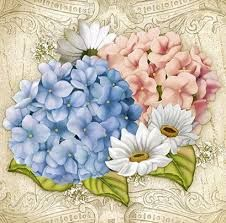 Image result for blue and white flowers decoupage sheets