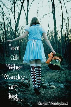 J.R.R. Tolkien quote with Alice and wonderland picture.