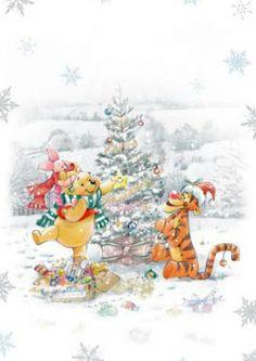 Winnie The Pooh Christmas, Winne The Pooh, Winnie The Pooh Plush, Snoopy Christmas, Disney Christmas, Christmas Art, Winnie The Pooh Pictures, Winnie The Pooh Quotes, Winnie The Pooh Friends