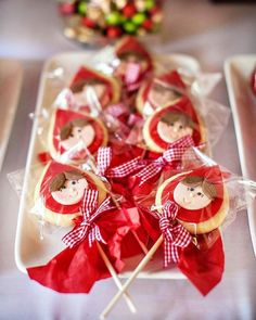 Little Red Riding Hood Party cookie pops Red Riding Hood Party, Little Red Ridding Hood, Fairytale Party, Cookie Pops, Red Party, Cute Cookies, Sugar Cookies, 6th Birthday Parties, Girl Birthday