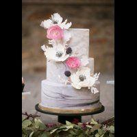 30 «мраморных» свадебных тортов