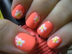 Daisy Nails- just use a bobby pin to make dots in a flower shape