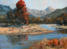 River in Autumn by Susiehyer Studio​ 30 x 40, oil on linen  www.SusiehyerStudio.com