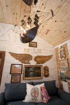 junk gypsies DIY pirate ship chandeliers  from the junk gypsies Fairytale Living Room on hgtv. reruns now on Great American Country, gactv!