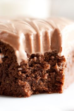 Chewy Brownies with Chocolate Cream Cheese Frosting
