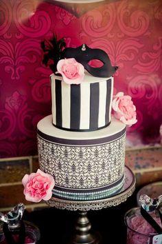 Beautiful Cake Pictures: Elegant Black White Striped Cake: Black and White Cakes, Patterned Cakes, Wedding Cakes Striped Cake, Patterned Cake, Beautiful Cake Pictures, Beautiful Cakes, Amazing Cakes, Crazy Cakes, Fancy Cakes, Cakes For Teenagers, Elegant Cake Design