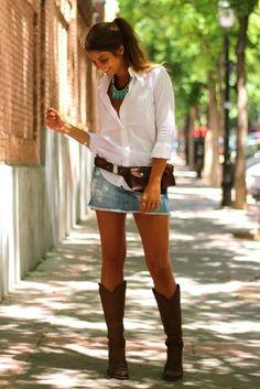 anne makeup®: mural fashion: a simplicidade e a beleza da saia jeans