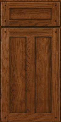 KraftMaid Cabinets -Square Recessed Panel - Veneer (MKH) Hickory in Cognac from waybuild