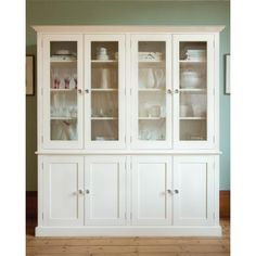 White Kitchen Dresser new england small white dresser with glass doors | living room