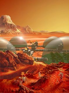 Don Dixon's Space Art and Science Fiction Art Gallery offers Prints, Wallpaper, Astronomy Essays, Original Paintings Mars Colony, Retro Futuristic, Sci Fi Fantasy, Space Fantasy, Space Architecture, Science Fiction Art, To Infinity And Beyond, Sci Fi Movies, Space Travel