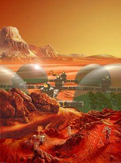 Mars colony by Don Dixon