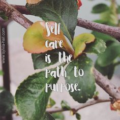 I was walking with a client recently ... (walking coaching is a new premier coaching offering I'm doing with clients) ...and this little gem of insight came up.  We came to the conclusion that until we're committed to the proper care of our 'selves' we won't be able to truly connect with our purpose.  Self care IS the path to purpose.