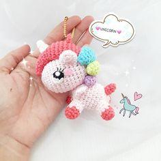 "1,675 Me gusta, 24 comentarios - crochet like (@crochet_like) en Instagram: ""--UNICORN KEYCHAIN-- For sell Available in my etsy shop Handmade item --no pattern--…"""