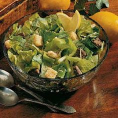 Caesar Salad Recipe -This crunchy refreshing salad has a zippy zesty dressing that provides a burst of flavor with each bite. It's a great salad to perk up any spring or summer meal. -Schelby Thompson, Camden Wyoming, Delaware