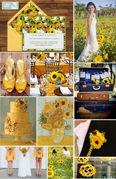 Invitaciones de Boda, Girasoles, Ideas, Decoración, Matrimonios, Flores - www.LaBelleCarte.com  Online wedding invitations, sunflowers, wedding decor, yellow - www.LaBelleCarte.com