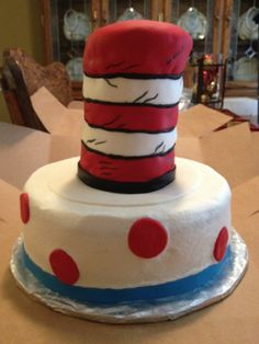 Cat in the Hat cake Made by my momma @Susie Ward