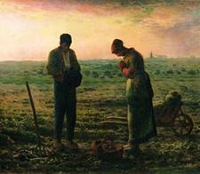 The Evening Prayer (The Angelus) - Jean Francois Millet  ~ I love this painting in thanking our Lord for what He's given at the close of the day together as husband and wife.