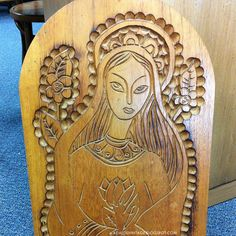 Wood Carving of Madonna