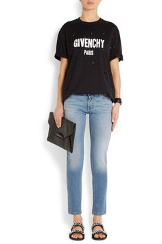 Givenchy - Chain-trimmed Leather Sandals - Black - IT39