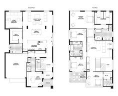 Really like the layout of the front room downstairs. Two Storey House Plans, 2 Storey House Design, Tiny House Design, Family House Plans, Dream House Plans, House Floor Plans, Building Plans, Building A House, West Facing House